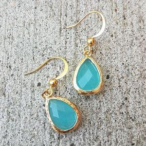 Handmade Sea Blue Earrings
